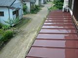 下屋根塗装後