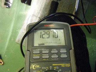 ハーレーのバッテリー電圧(フォグ点灯)