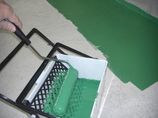 ガレージ床のコンクリ塗装