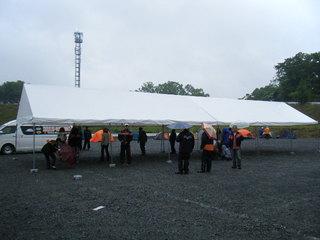 ハーレー福井のテント