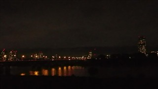 ハーレーのツーリング先夜景