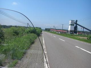 ハーレーダビッドソンと北海道の道路
