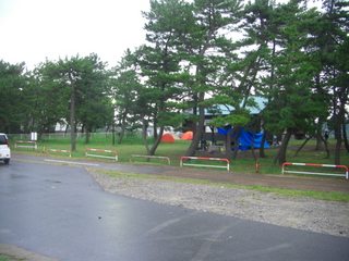 ハーレーダビッドソンのキャンプテント