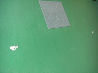 ハーレーダビッドソンのガレージ塗装失敗