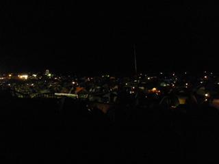 バイブスミーティングキャンプ場のテント