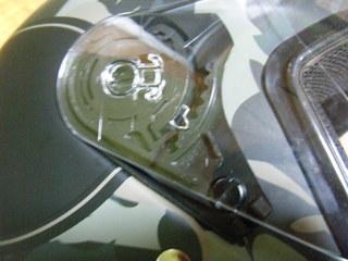 ハーレー純正ヘルメットのシールドロック
