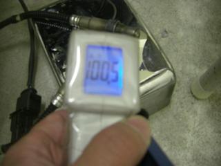 ハーレーのO2センサーヒーター温度