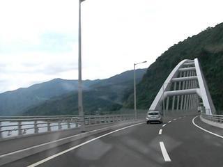 ハーレーのツーリング 桜島大橋