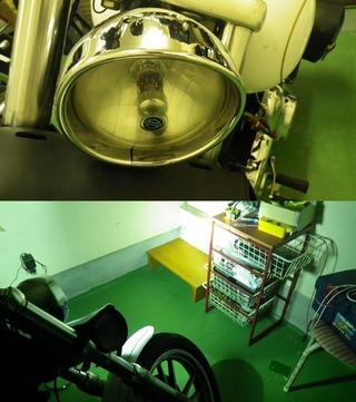 ハーレーダビッドソンのバイザースタイルトリムリングヘッドライト配光