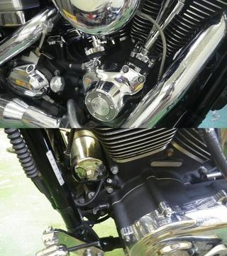 ハーレーのエンジンコート