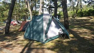 ハーレーのミーティング用テント