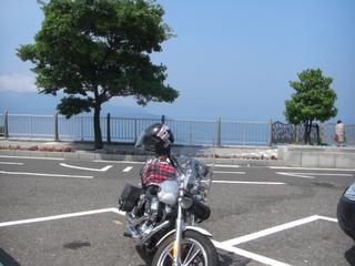 ハーレーダビッドソンと若狭湾