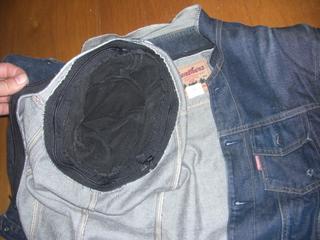 バトルジャケットの袖脱着機構