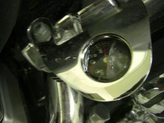 ハーレーダビッドソンの油圧計故障