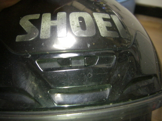 ヘルメットの前方エアーベンチレーション