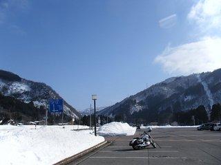 ハーレーとスキー場
