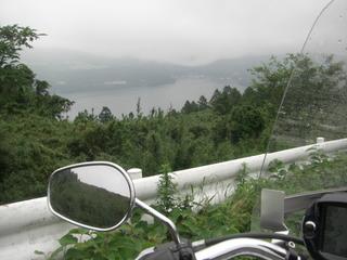 ハーレーダビッドソンと芦ノ湖
