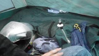 ハーレーのキャンプ用具