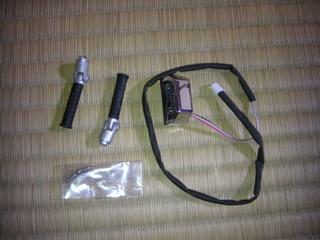 ハーレーダビッドソンのパッセンジャーペグとフットブレーキスイッチ
