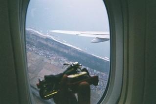 離陸上昇中のハーレー