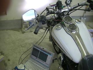 ハーレーダビッドソンの燃費計車速パルス入力実験