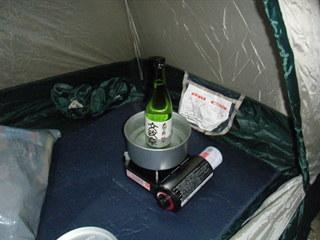 ハーレーのキャンプと熱燗