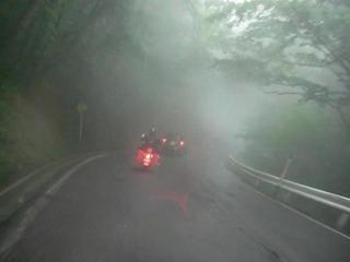 ハーレーの濃霧ツーリング