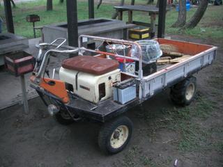 ハーレーカラーの作業車