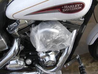 ハーレーダビッドソンの洗車用エアクリーナーカバー