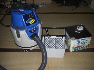 日立集塵機とコンクリート用ペンキ