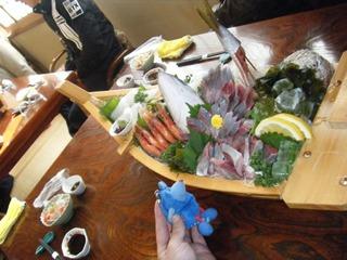 ハーレーのツーリング昼食 船盛り
