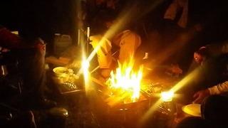 ハーレーのキャンプと焚き火