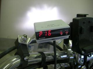 ハーレーダビッドソンの燃費計 パルスチェック