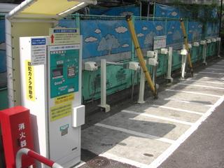 ハーレーダビッドソンの盗難対策用有料駐輪場
