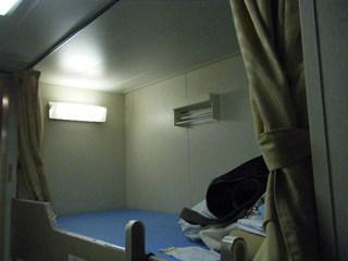 ハーレーのツーリングで利用するフェリーの客室