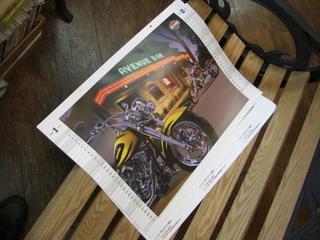 ハーレーダビッドソンのカレンダー(2009年)