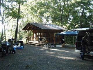 ハーレーのキャンプ場