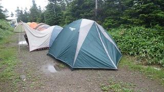 ハーレーのキャンプとテント