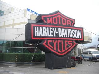 ハーレーダビッドソン試乗会の看板