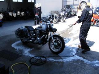 ハーレーのスチーム洗浄