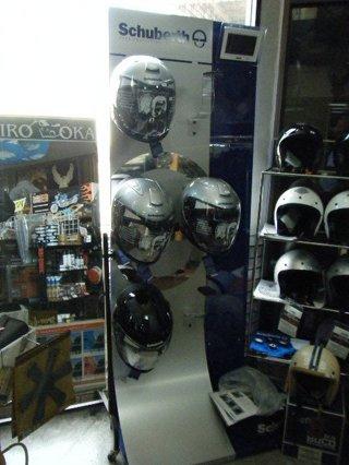 ハーレー用ヘルメット シューベルト展示ラック