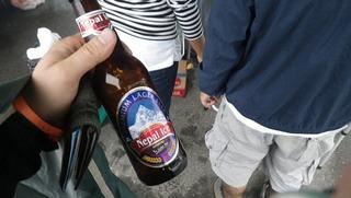 ハーレーとネパールビール