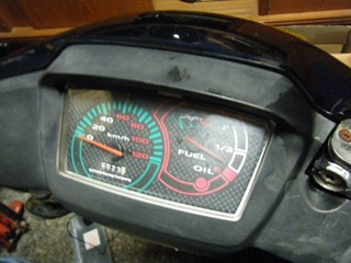原付のスピードメーター