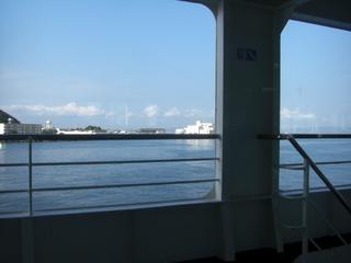 ハーレーダビッドソンを運ぶ東京湾フェリー