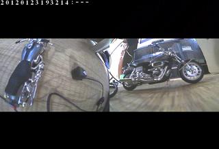 ハーレーのドライブレコーダー画像