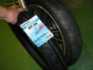 ハーレーの新品タイヤ バトラックスBT−39