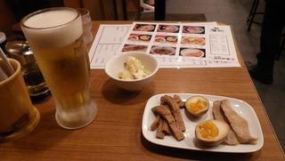 生ビールとおつまみ