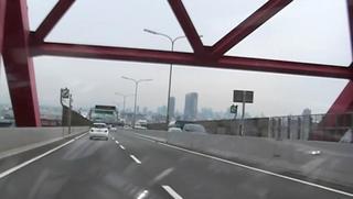 ハーレーのツーリング 大阪都市高速