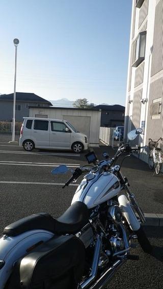 ハーレーと富士山