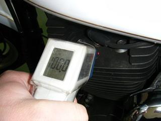 ハーレーのシリンダーヘッド温度